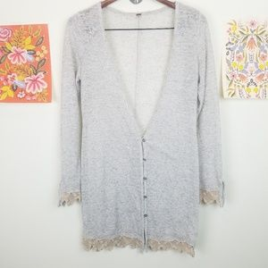 Free people Lightweight Button Down Cardigan